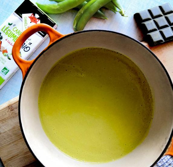 Soupe de coces de petits pois recette