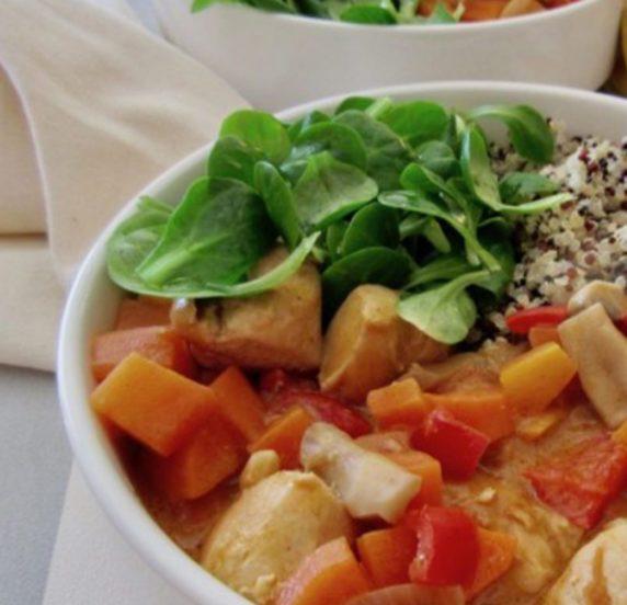Poulet aux légumes recette