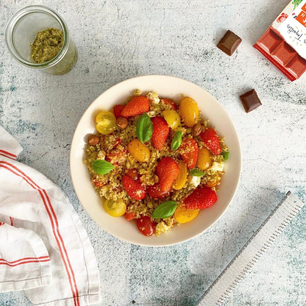 Salade tomate fraise recette