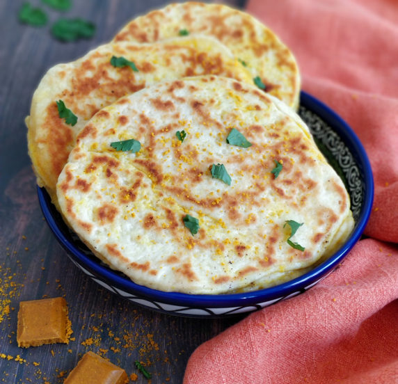 Naans au curry recette