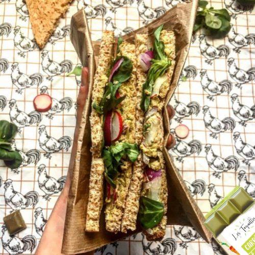 Sandwich radis fromage poireau recette