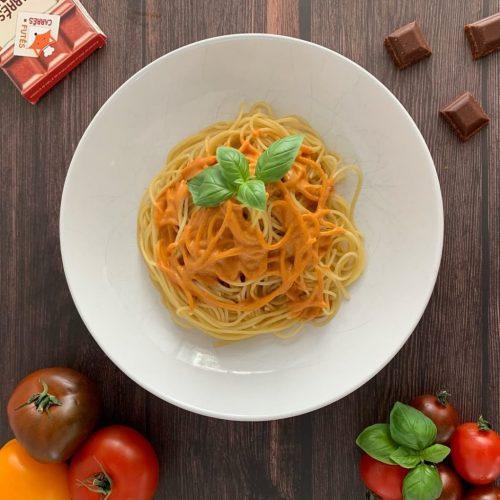 Spaghettis sauce toquée recette