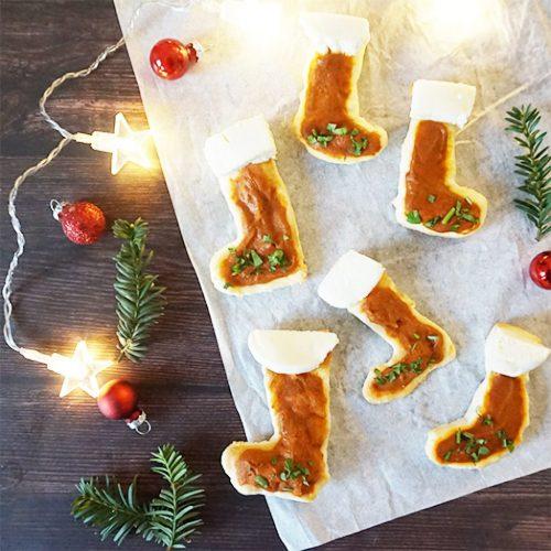 Mini pizza bottes de Noël recette