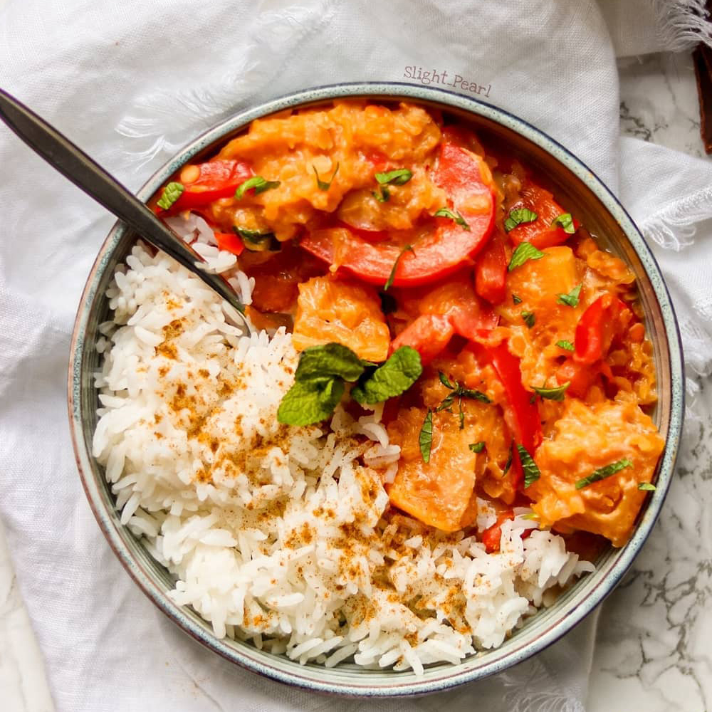 Curry butternut recette