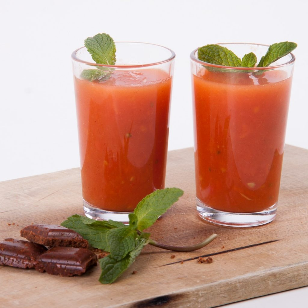 Soupe froide tomate recette